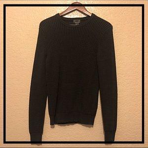 Men's black textured-knit sweater